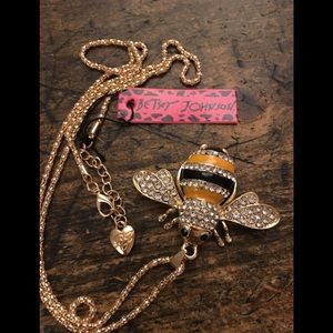 Betsey Johnson Jewelry - Betsey Johnson Bumble Bee bling necklace crystal